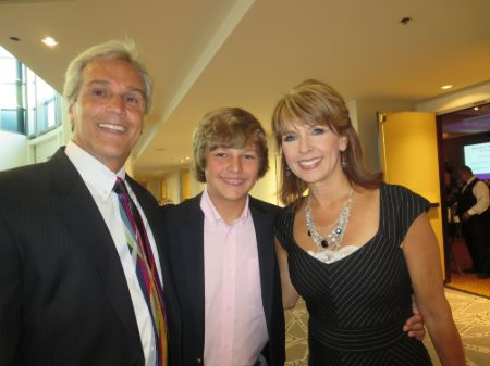 Kim Christiansen with husband, Greg, and son, Tanner