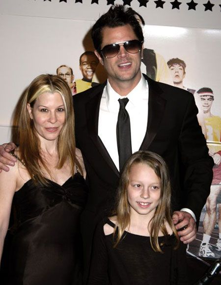 Melanie with ex-husband, Johnny Knoxville, and their daughter