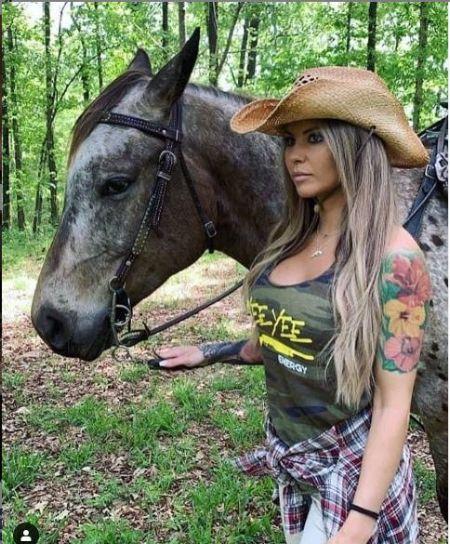 Kristen Likes Horse Riding