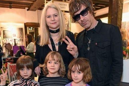 Starkey with partner Jay Mehler and children