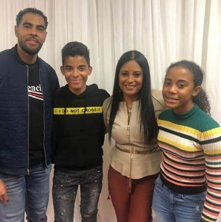 Lisa Nicole Cloud with her husband and their two children