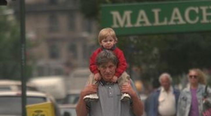 Matthew Jay Povich with his father Maury Povich