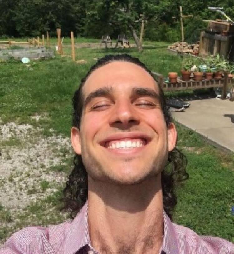 Nikko Santo Pietro enjoying nature.