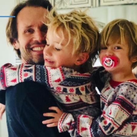 Actor Tobias Jelinek with his children